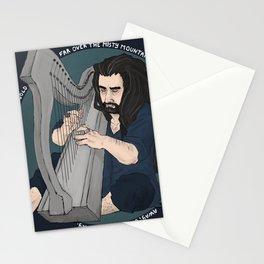 harpist - dark Stationery Cards