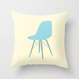 EAMES Ray & Charles Eames Molded Side Chair Throw Pillow