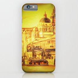 Liverpool Waterfront Skyline (Digital Art) iPhone Case
