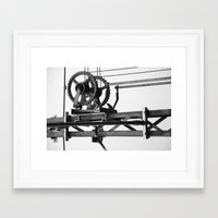 techno Framed Art Prints featuring Techno? by Let's make it happen