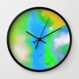 Colorful Paint Wall Clock