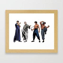 Kung Fu Legends Framed Art Print