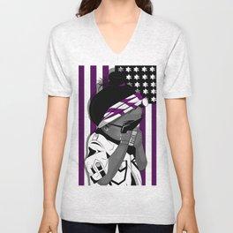 Everything is Purple Unisex V-Neck