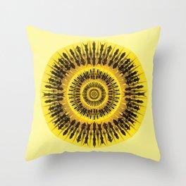 Swim yellow Throw Pillow