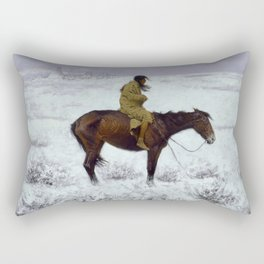 "Frederic Remington Western Art ""The Herd Boy"" Rectangular Pillow"