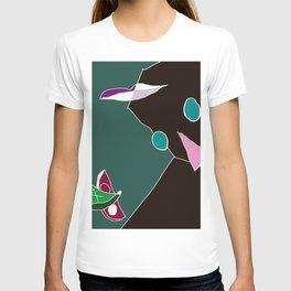 facescape: face lean on palm T-shirt