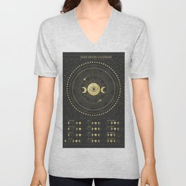 2020 Moon Calendar Unisex V-Neck