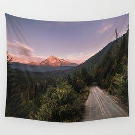 Mountain Adventure - Mount Hood Wanderlust Landscape Wall Tapestry