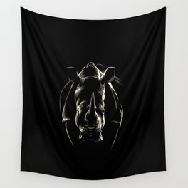 The shadow of the rhinoceros Wall Tapestry