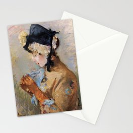 Woman Wearing Gloves (Morisot 1885) Stationery Cards