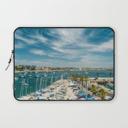 Luxury Yachts And Boats In Cascais Port At Atlantic Ocean, Wall Art Print, Luxury Resort Art, Poster Laptop Sleeve