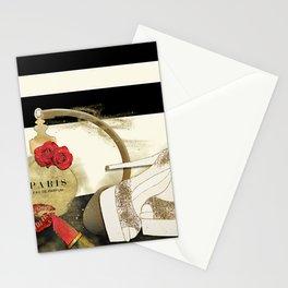 Paris Eu de parfum, Heels & Lipstick Stationery Cards