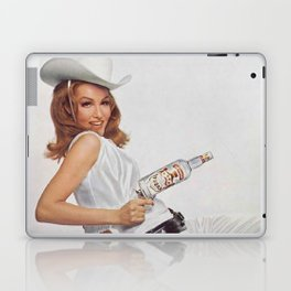 Vodka Martini - Julie Newmar Cowgirl - When I say Bloody Mary...Alcoholic Beverages Vintage Poster Laptop & iPad Skin