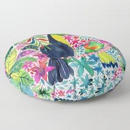Toucan in the Rainforest Floor Pillow