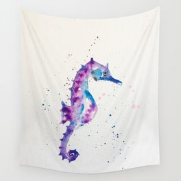 sea horse watercolor Wall Tapestry