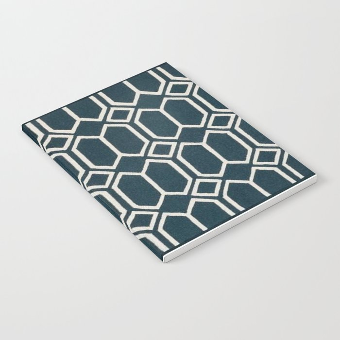 Geometrics in Blue and White Diamonds Notebook