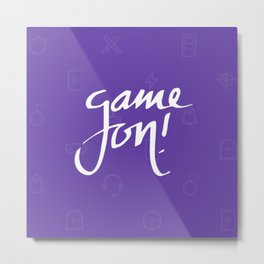 Game on! Metal Print