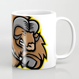 Musk Ox Ice Hockey Mascot Coffee Mug
