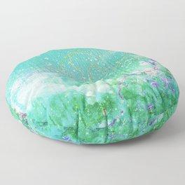 Green Nebula Floor Pillow