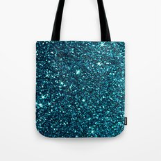 blue sparkle Tote Bag
