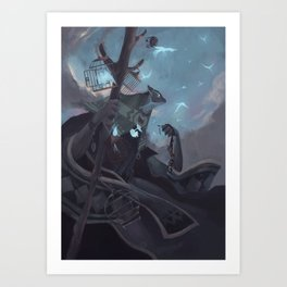 The Dreamteller of the Departed Art Print