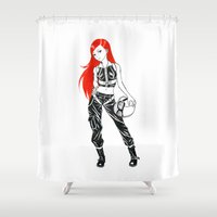 pilot Shower Curtains featuring Pilot by Freeminds