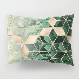 Leaves And Cubes Pillow Sham