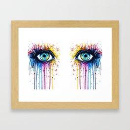 Color Eyes Framed Art Print