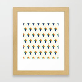 044 Ice cream pattern on the beach Framed Art Print