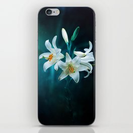 Lilies under the light iPhone Skin