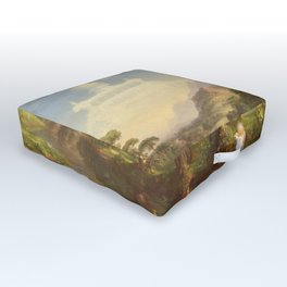 The Voyage of Life Youth Painting by Thomas Cole Outdoor Floor Cushion