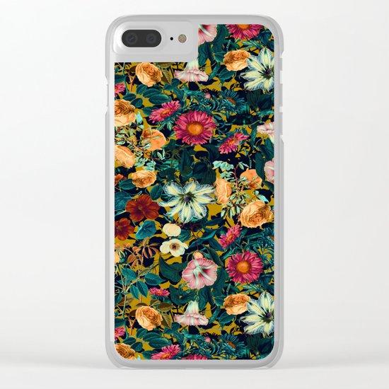 Floral Pattern Winter Garden Clear iPhone Case