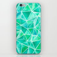 emerald iPhone & iPod Skins featuring Emerald by Jamworth
