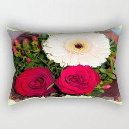 Red Roses and Gerberas Rectangular Pillow