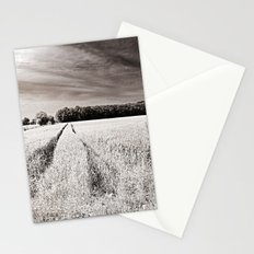 Tracks in the field Stationery Cards