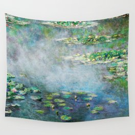 1906 Waterlilies oil on canvas. Claude Monet. Wall Tapestry