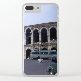 Vintage Color Photo * Verona Arena * Italy * 1950's * Antique Cars * Bus *Italian Clear iPhone Case