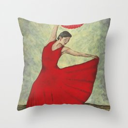 Rhythm Inferno Throw Pillow