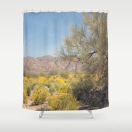 Joshua Tree Wildflowers Shower Curtain