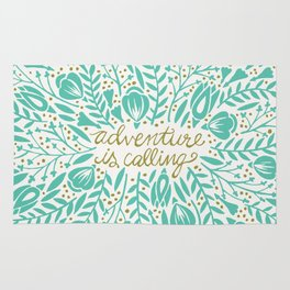 Adventure is Calling – Turquoise & Gold Palette Rug