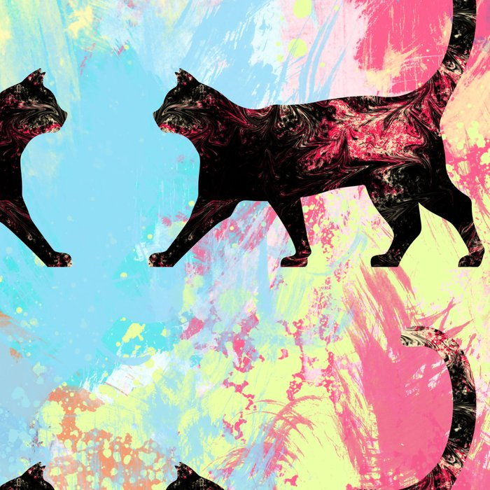Abstract Cat Leggings