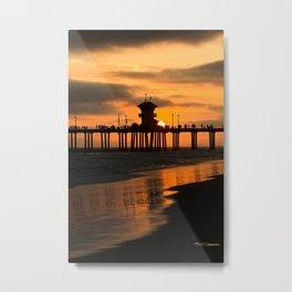 Surf City Sunset  9/1/14 Metal Print