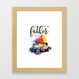 Best father #2 in the world | Father's day Framed Art Print