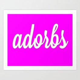 adorbs poster Art Print