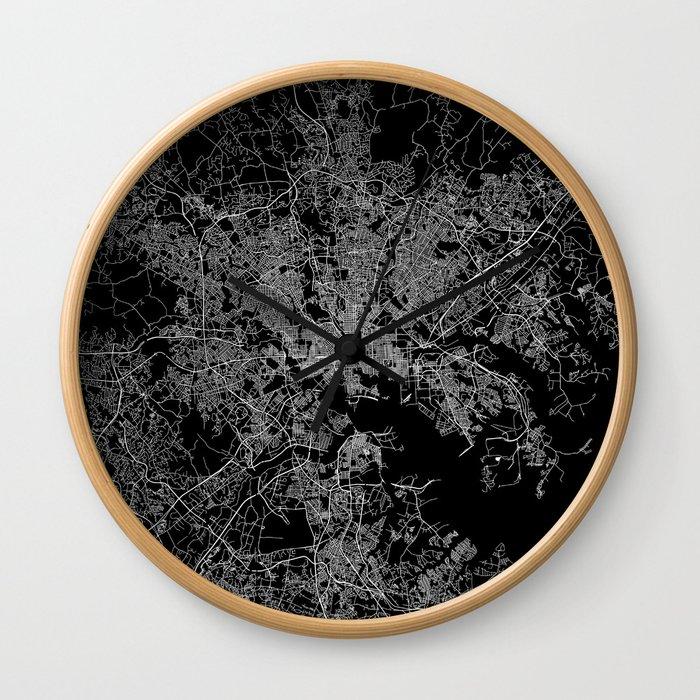 Baltimore map Maryland Wall Clock