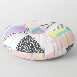80s / 90s RETRO ABSTRACT PASTEL SHAPE PATTERN Floor Pillow
