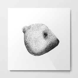 Bear dots Metal Print