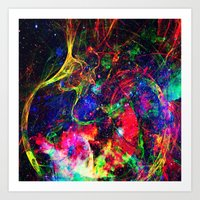 big bang Art Prints featuring Big Bang by haroulita