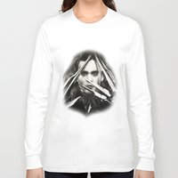 edward scissorhands Long Sleeve T-shirts featuring Edward Scissorhands by Whitney Wilkinson