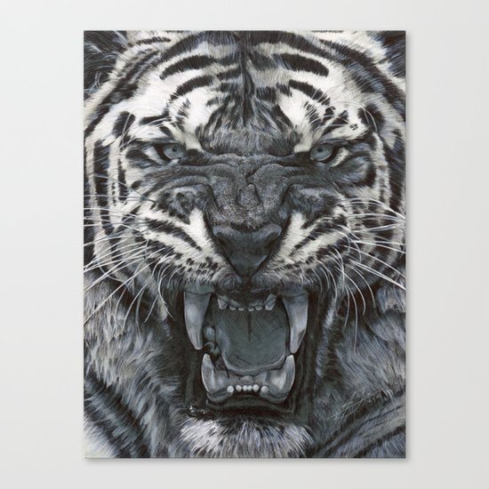 Tiger Roar! - By Julio Lucas Canvas Print